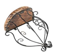 Wood And Wrought Iron Fancy Wall Bracket