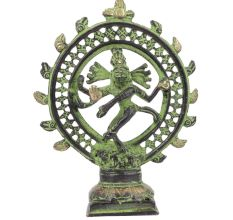 Brass Nataraja Statue with Patina