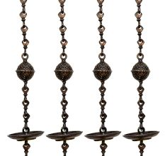 Swing Chain Set Handicrafted Decorative Brass Jhula Chain(Set Of 4 Pieces)