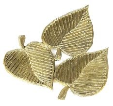 Miharu Dhokra Three Leaf Side Table Tray