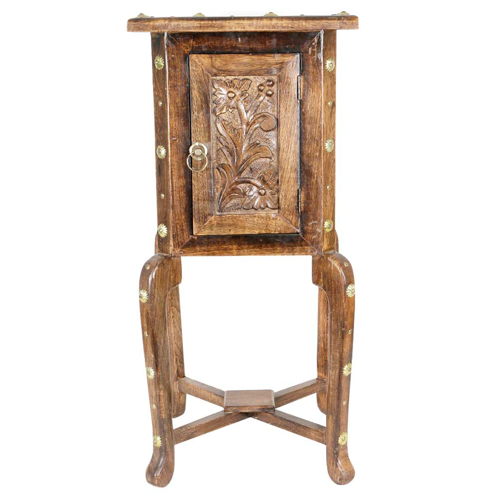 Wooden Hand Carved Side Table