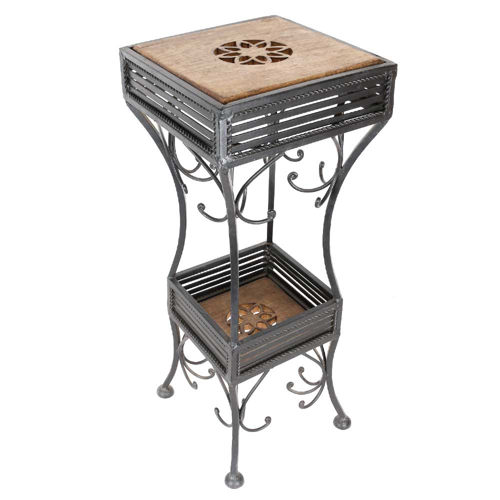 Mango Wood And Wrought Iron Table