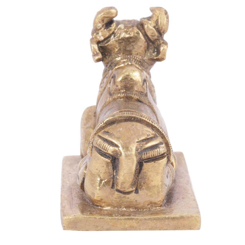 Brass Sitting Nandi Statue