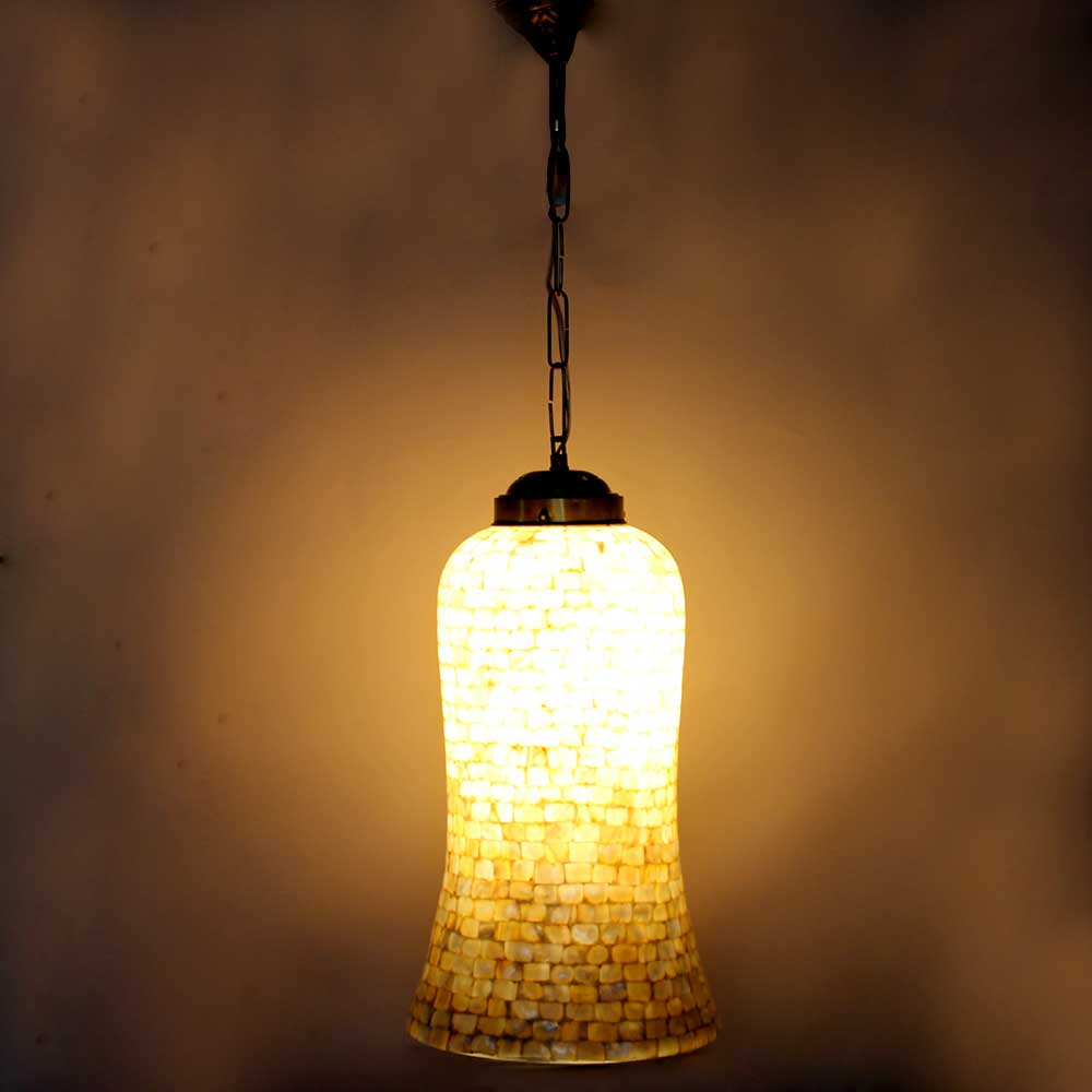 Shell Decorative Glass Ceiling Lamp