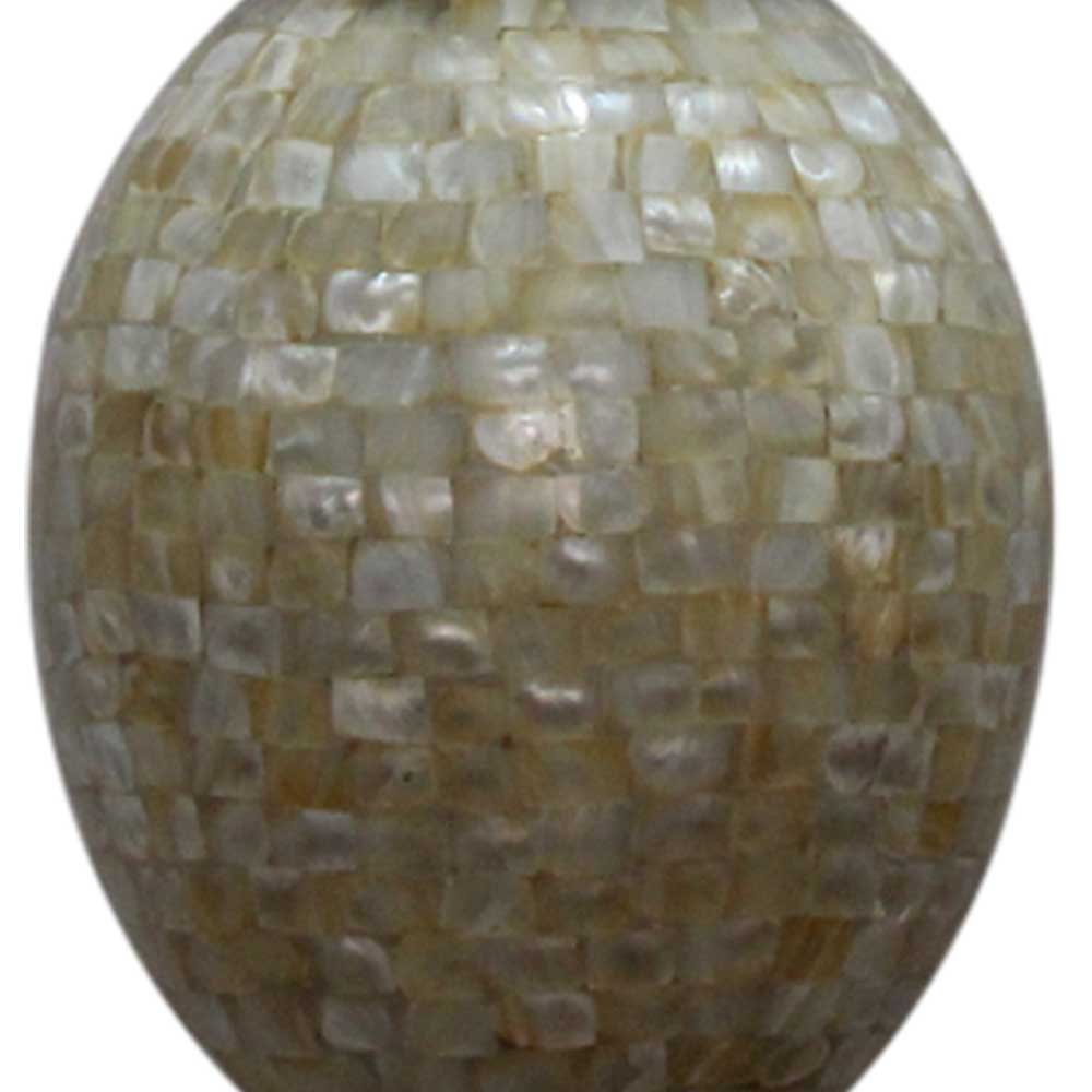 Shell Oval Shape Glass Ceiling Lamps
