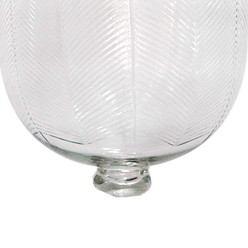 U Shape Clear Cut Glass Ceiling Lamp