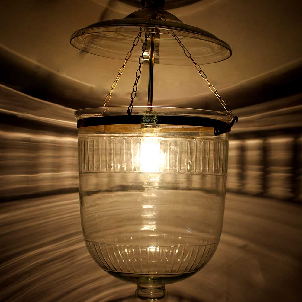 U Shape Clear Glass Ceiling Lamp