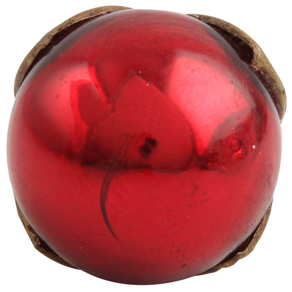 Antique Red Round Glass Dresser Knobs Online