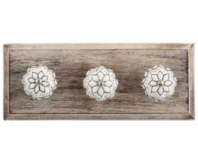 Black Lotus Ceramic Melon Wooden Hooks