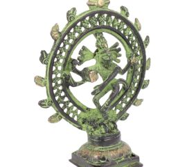 Brass Nataraja Statue with Patina