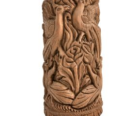Indian Peacock Rose Engraved Home Decor Collectable