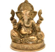 Brass Charbhuja Ganesha Statue