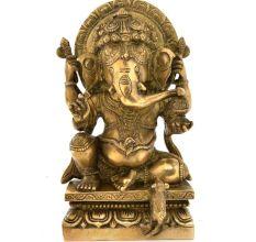 Bronze Vinayaka With An Arch