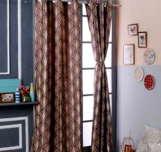Turkish Bath Jacquard Door Curtain Set Of 2: Abstract