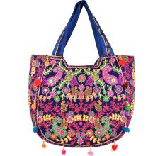 Navy Blue Gypsy  Hippie Banjara Shoulder Bag