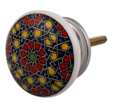 Mixed Color Ceramic Flat Drawer Knob Online