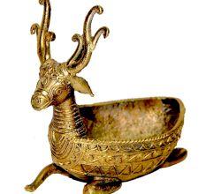 Miharu Dhokra Deer Side Table Tray