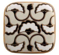 Black Sea Shell Square Ceramic Cabinet Knob Online