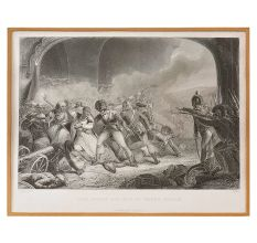 Lithograph On The Last Effort And Fall Of Tippoo Sultan