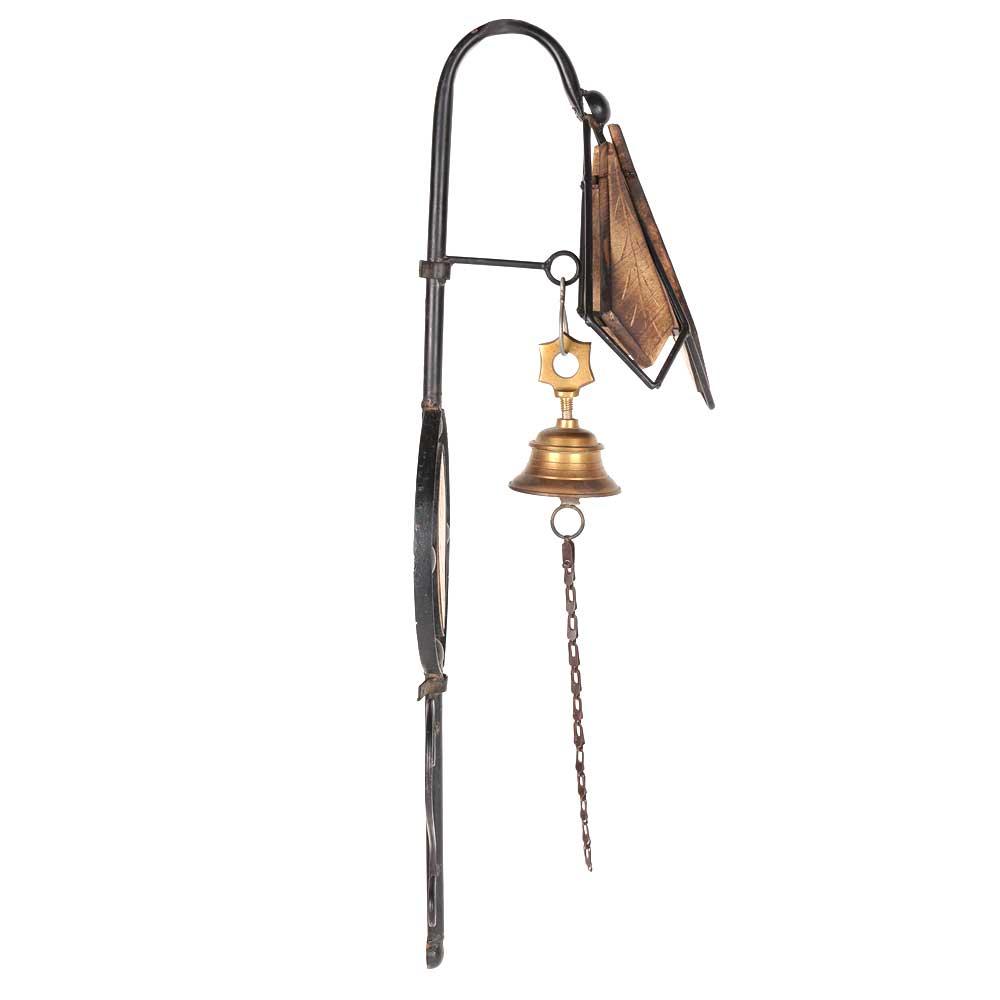 Mango Wood Wrought Iron & Wood Door Bell