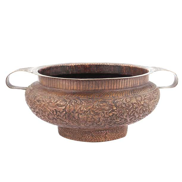 Copper Urli Pot Embossed 14.96 inches