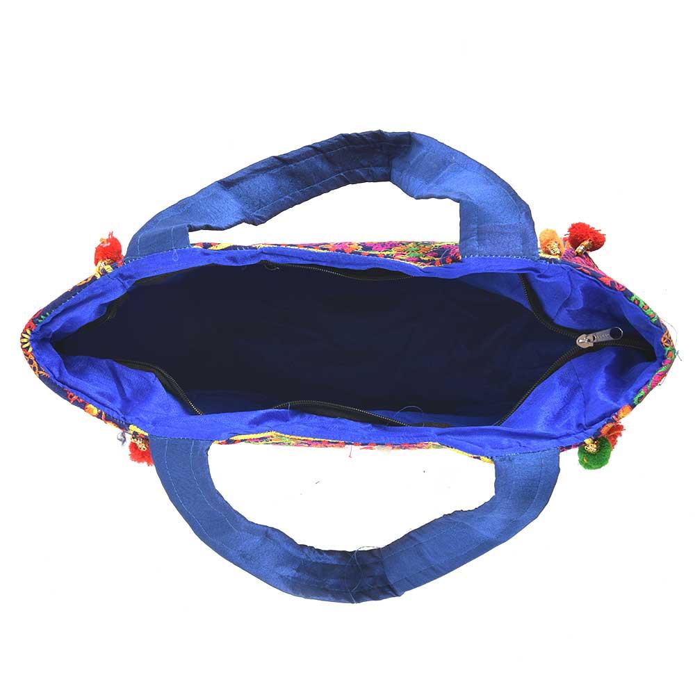 Navy Blue Gypsy  Hippie Banjara Shoulder Bag