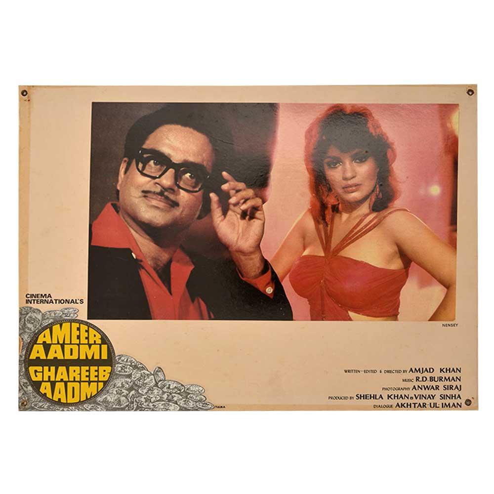 Handmade Movie Poster Ameer Aadmi Ghareeb Aadmi