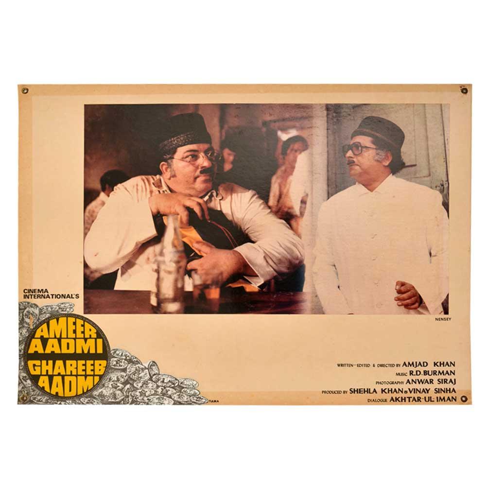 Comic scene Ameer Aadmi Ghareeb Aadmi 1930 movie poster