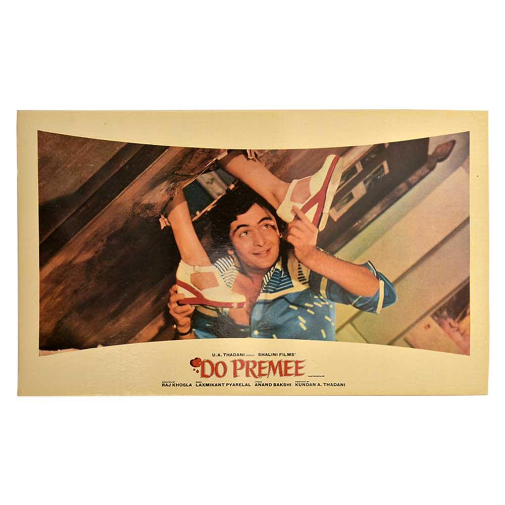 Rishi Kapoor Maushmi Chatterjee Movie Poster Do Premee 80s