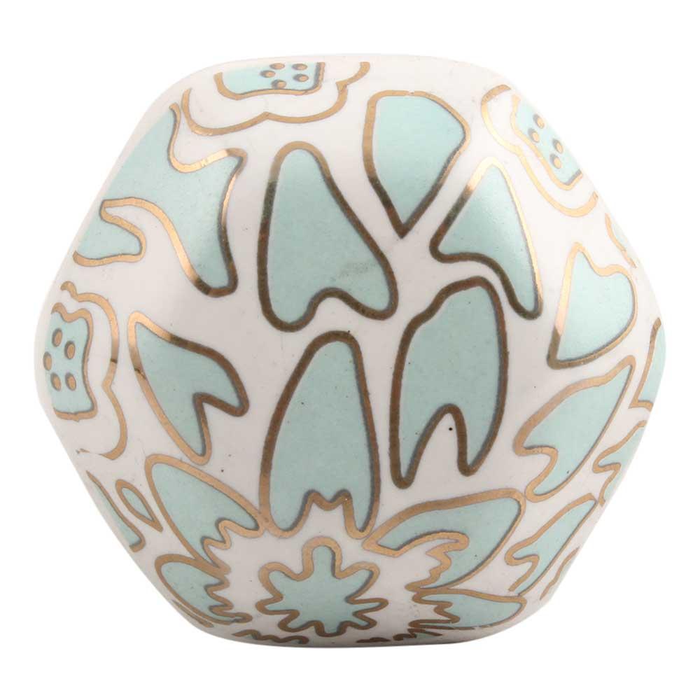 Sage Green Hexagon Ceramic Drawer Knob