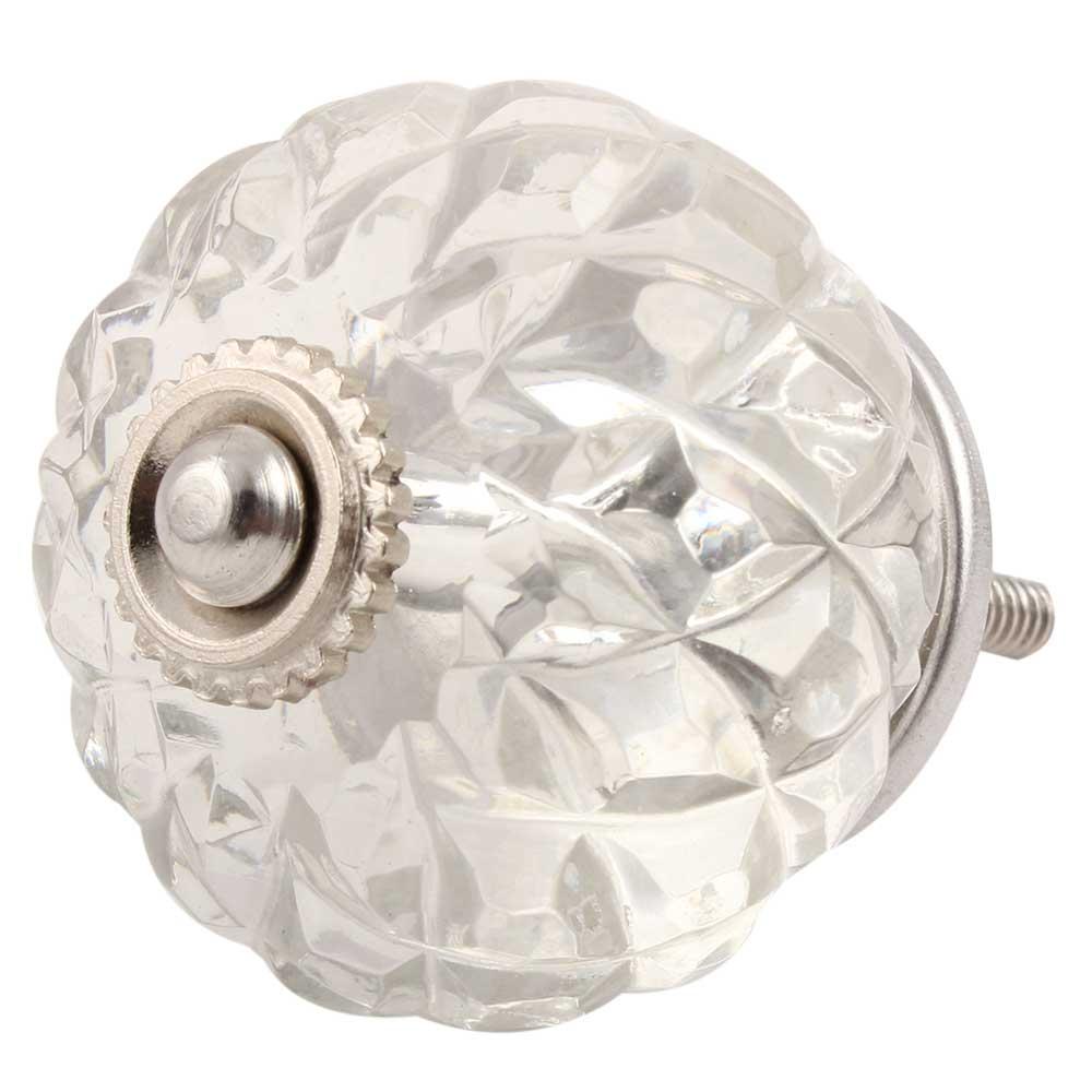 Clear Fine Cut Glass Drawer Knob Online