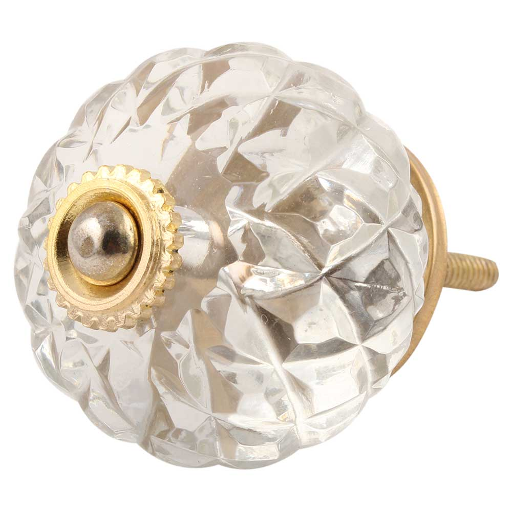 Clear Fine Cut Glass Drawer Knob Online