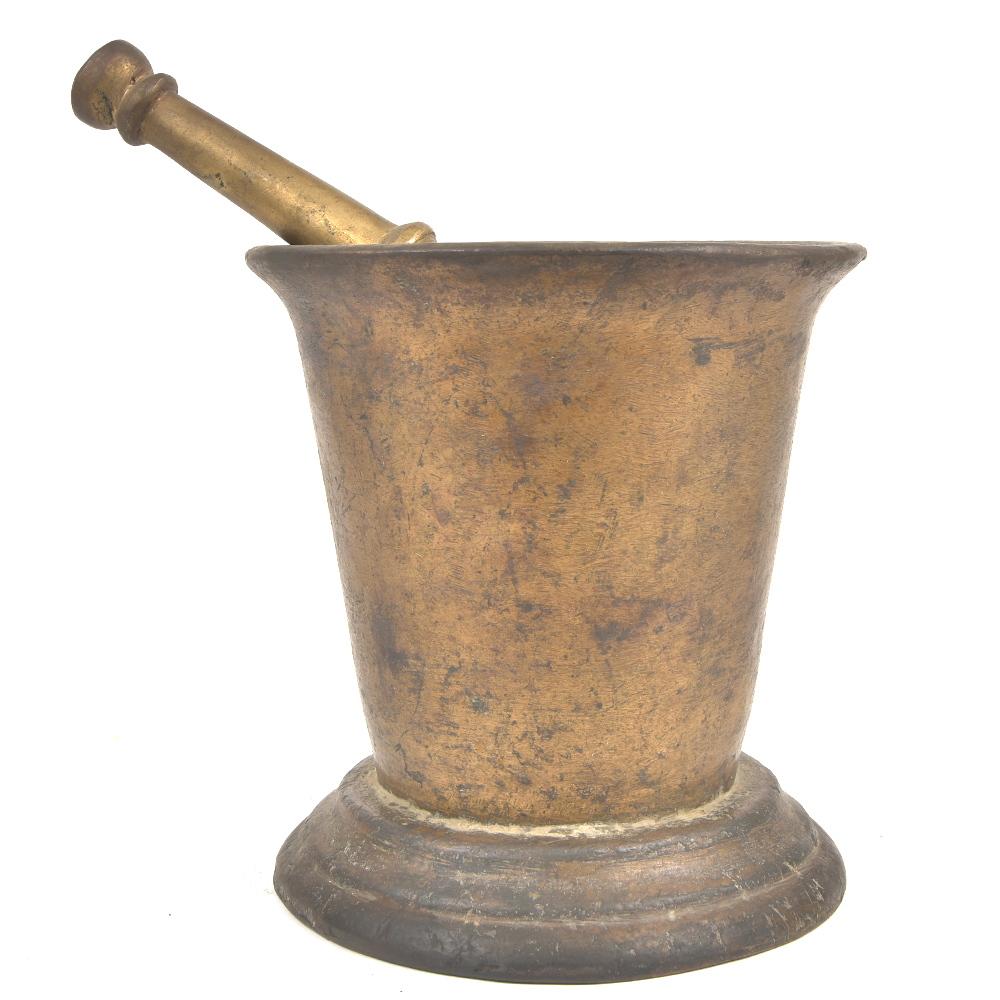 Vintage Bronze Pharmacologist Mortar and Pestle