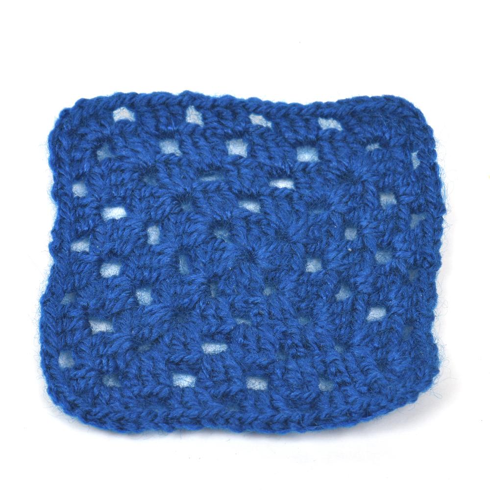 Dark Blue Square Handmade Woolen Coasters Pack Of 6