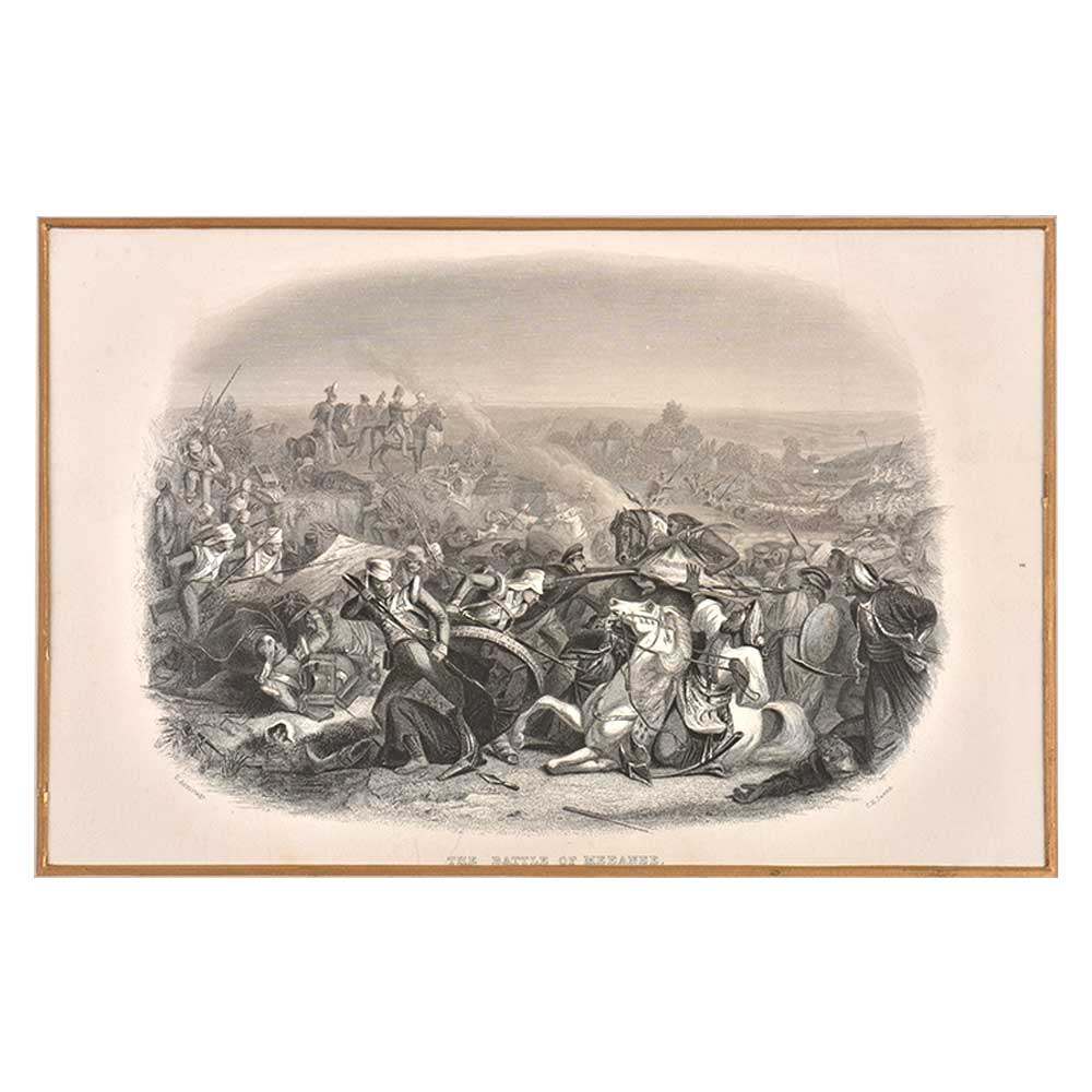Lithograph The Battle Of Meeanee, Hyderabad, Andhra Pradesh, India