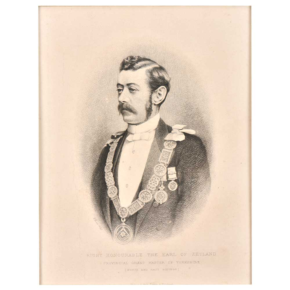 Lithograph Of Honorable Earl Of Zetland
