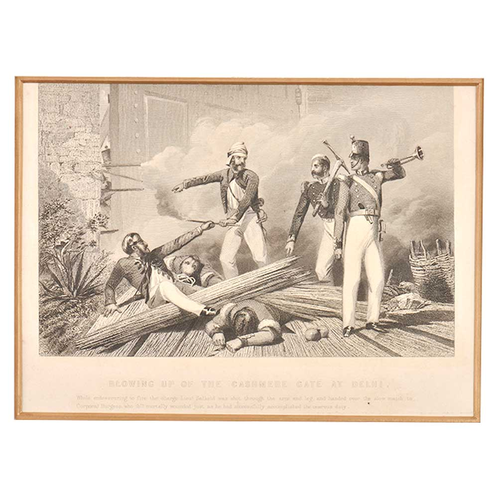Lithograph On Indian Rebellion Of 1857