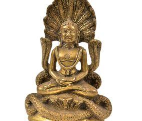 Bronze Buddha Statue with Mucalinda