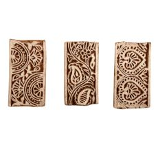 Set of 3 Piece New Mix Wooden Printing Block