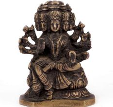 Bronze 5 Face Lakshmi Sitting on a Lotus