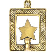 Brass Star Framed Single Wall Hook