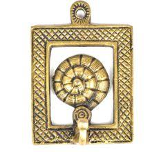 Brass Sea Shell Framed Single Wall Hook