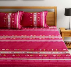 Bombay Dyeing Dew Drops Bedsheet With Two Pillow Covers: Abstract