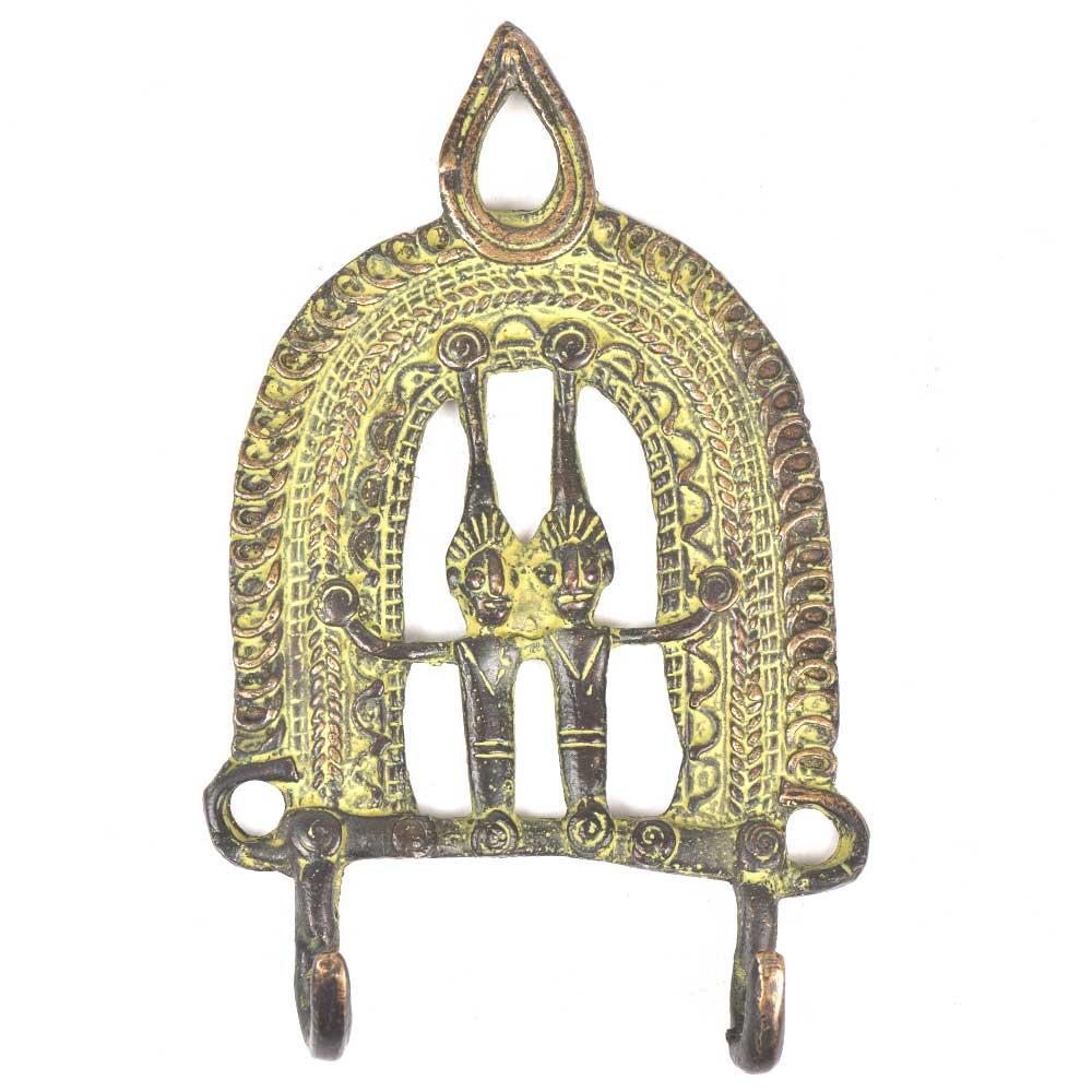 Brass 2 Hooksed Tribal Hooks