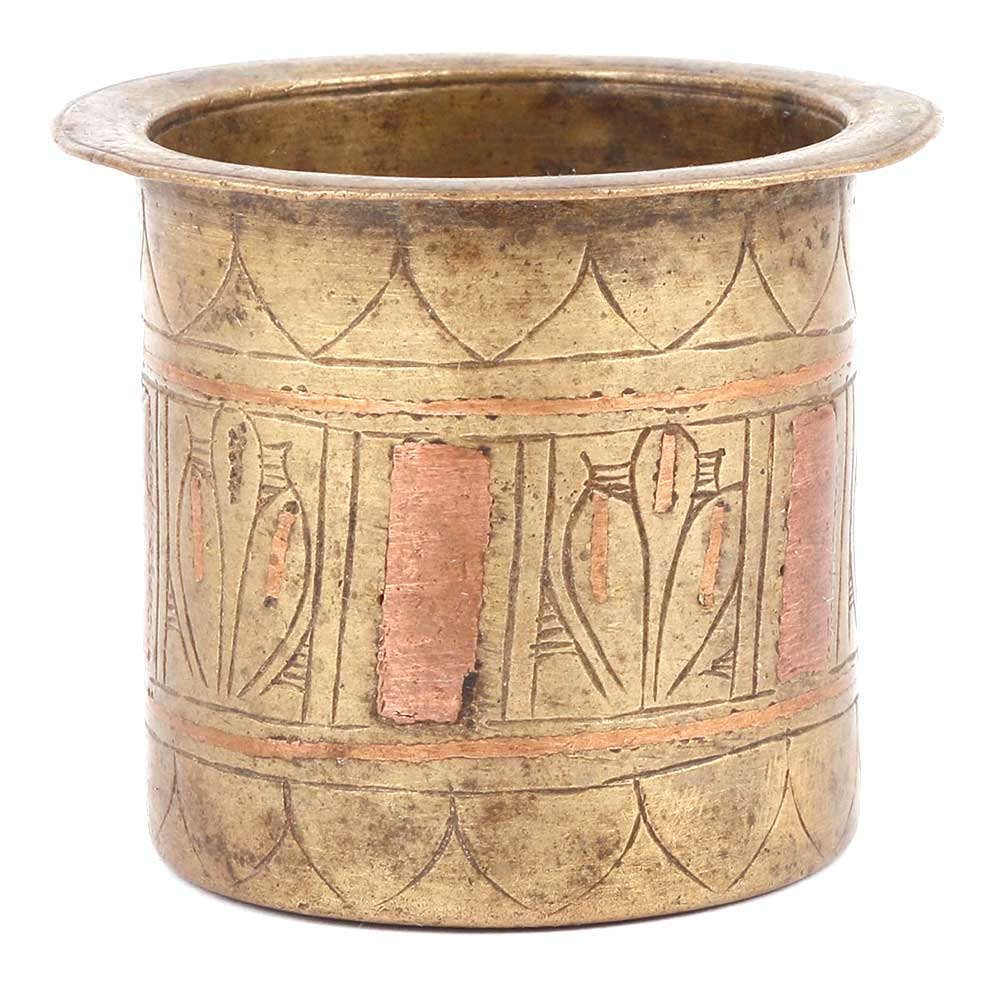 Bronze Panchamrita Cup With Engravings