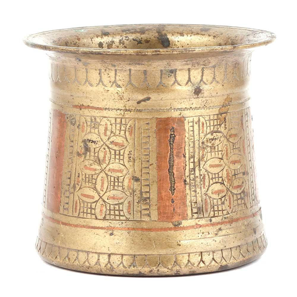 Bronze Panchamrita Cup With Beautiful Engravings
