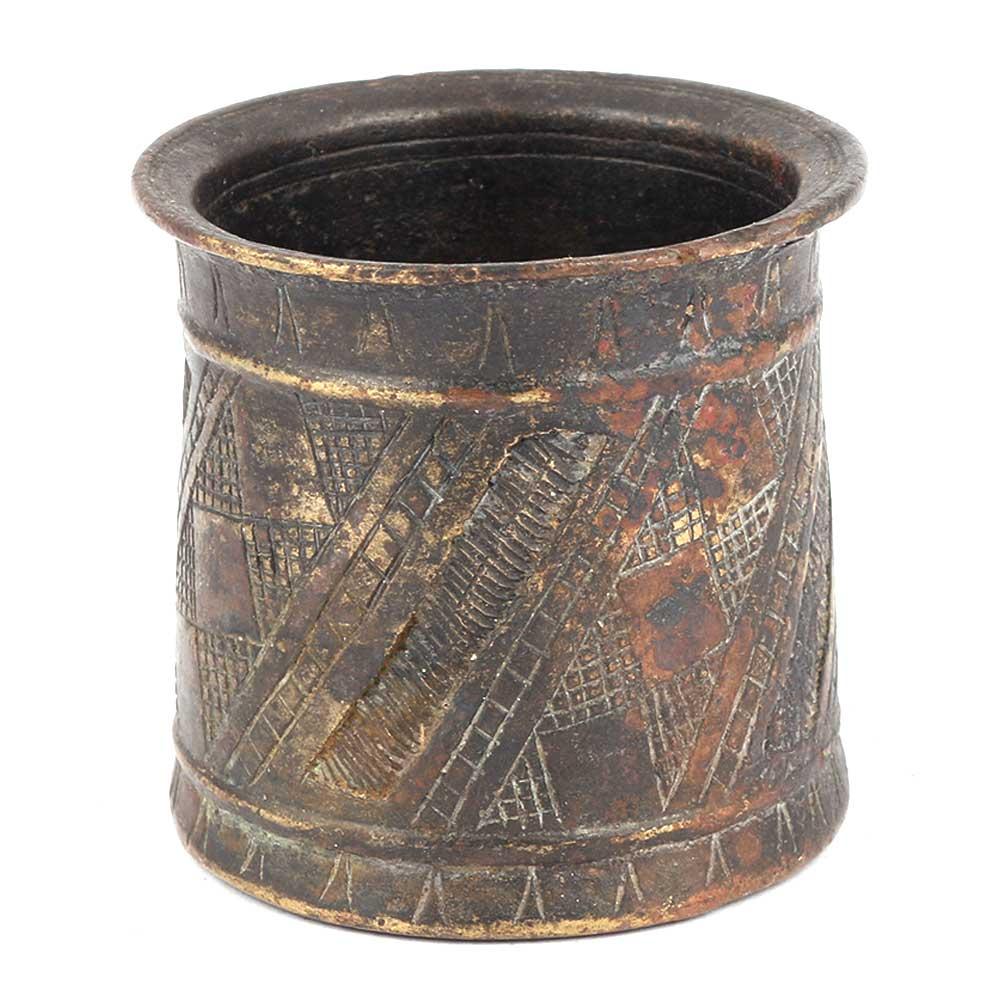 Bronze Patina Panchamrita Cup
