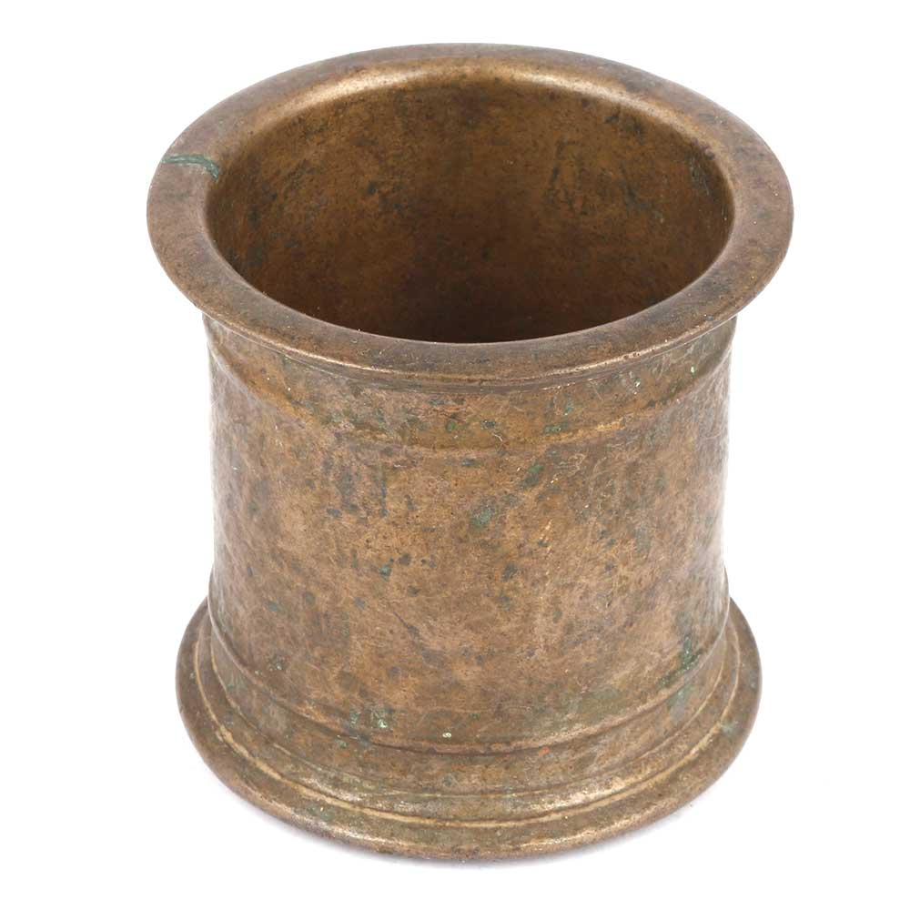 Bronze Measuring Cup With A Heavy Base