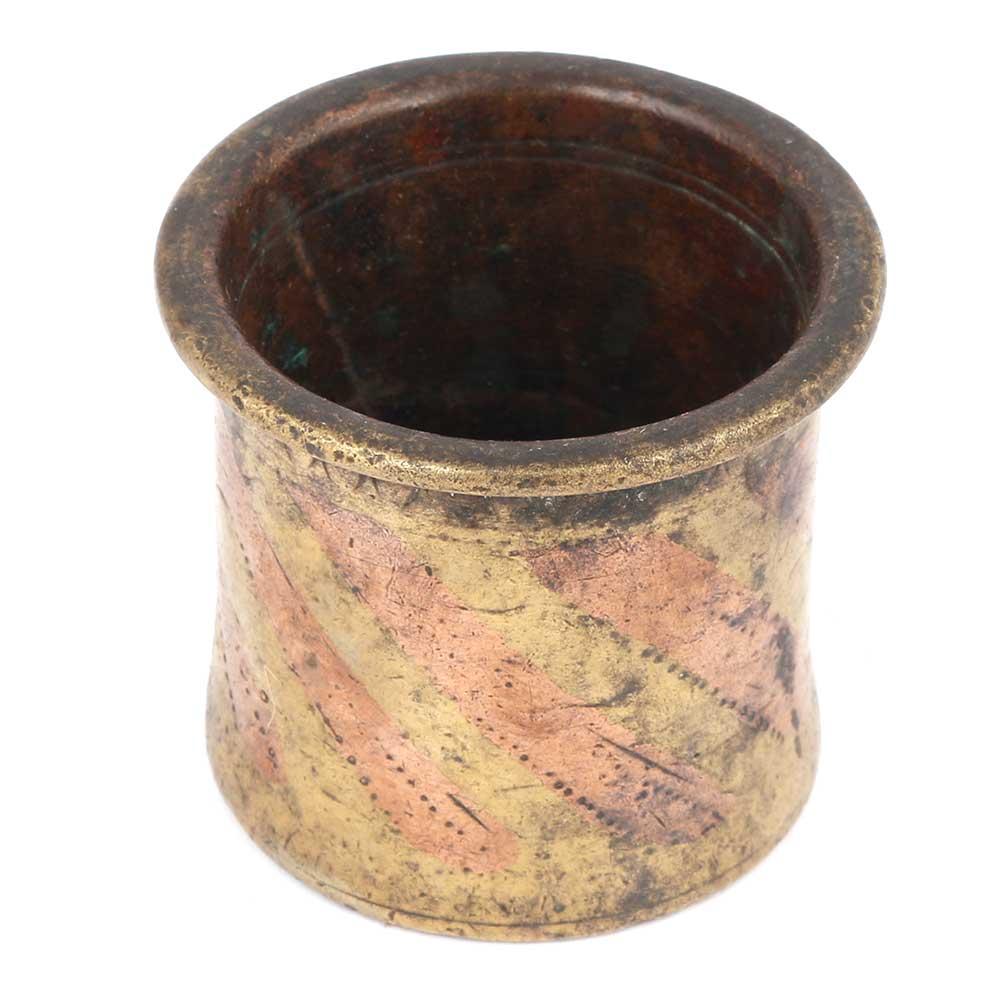 Bronze Charnamrita Cup With Rustic Look