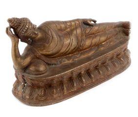 Brass Sleeping Buddha Statue